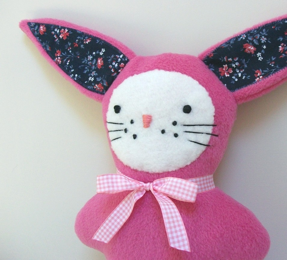 Pink Patch Bunny
