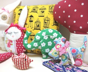 Sweet elephants, birds, puppies, purses, bunnies and a giant toadstool!