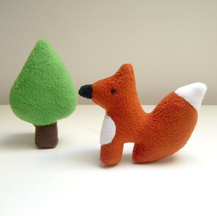 Mini Fox and Tree Set