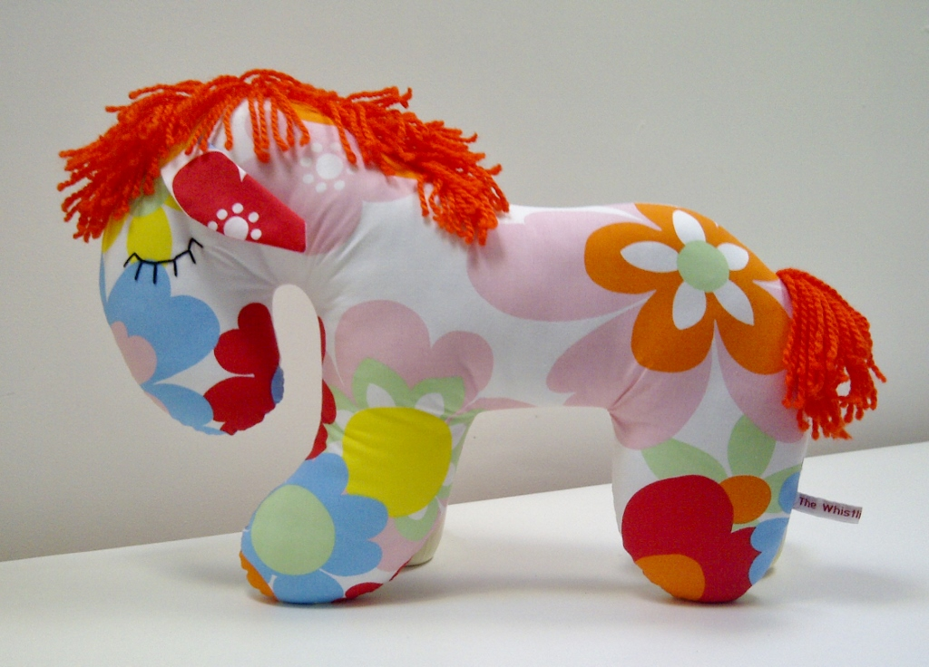 Lovely and bright, this flowery horse is now for sale in my Etsy shop!