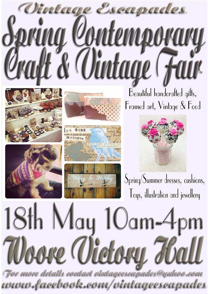 Vintage Escapades at Woore Victory Hall...early summer fun!