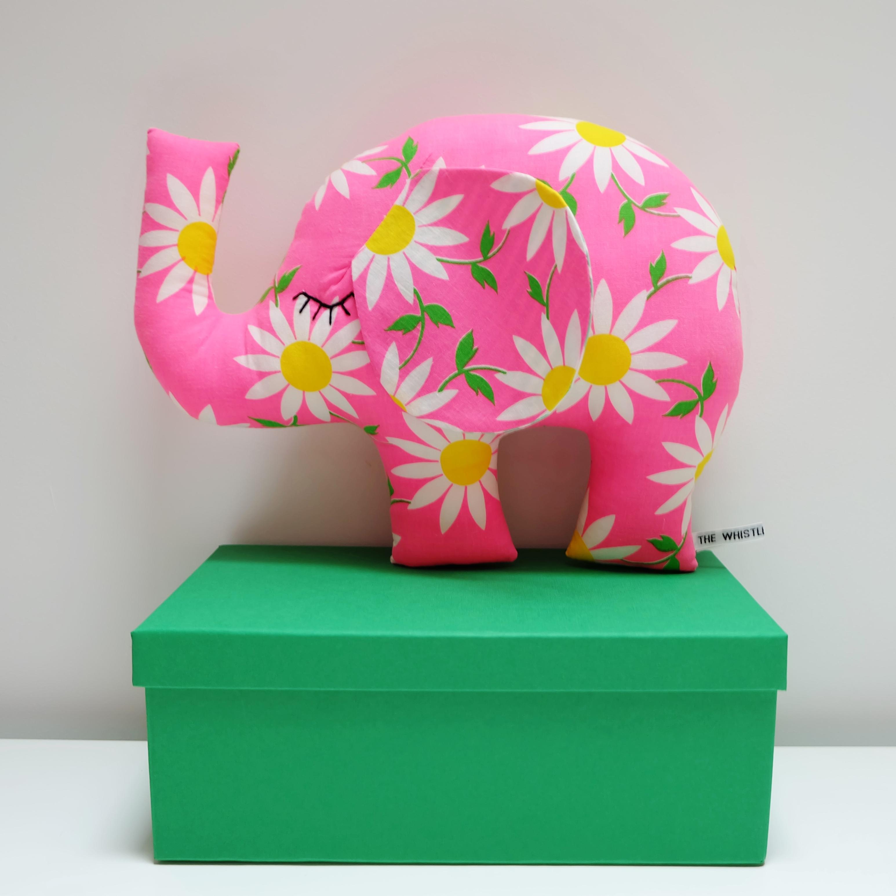 Pink Vintage Elephant